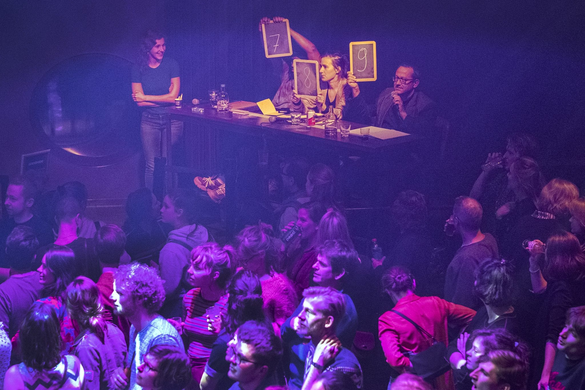 Nederland. Utrecht, 02-02-2019. Foto: Patrick Post. Finale NK Poetry Slam.