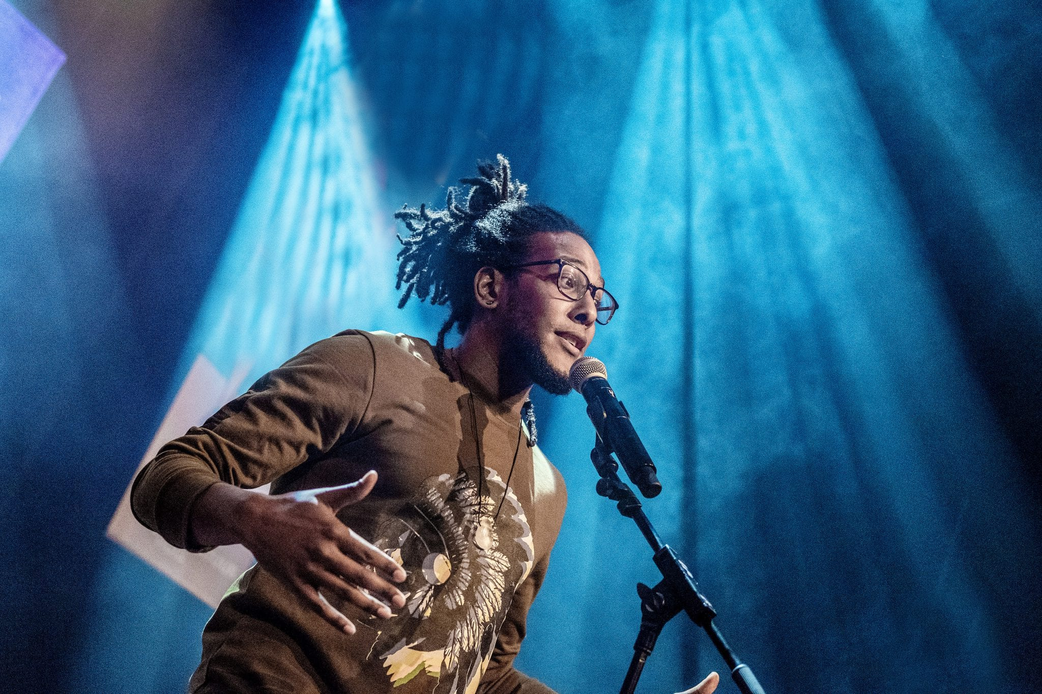 Nederland. Utrecht, 26-01-2018. Foto: Patrick Post. NK Poetry Slam in Tivoli.